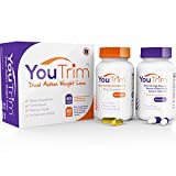 YouTrim - DUAL ACTION Weight Loss Pills & Fat Burners â LOSE WEIGHT or YOUR MONEY BACK! â 100% Natural Slimming Pills With ZERO Shakes or Jitters - Hunger Suppressants - Boost Metabolism - Reduce Stubborn Fat - Increase Your Energy Levels - Optimize
