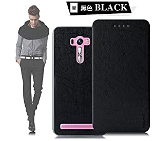 Original Pudini® Sparkling Black colour Yusi flip Case For ASUS Zenfone Selfie ZD551KL