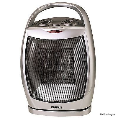NEW OPTIMUS 750/1500 W PORTABLE OSCILLATING CERAMIC SPACE HEATER with THERMOSTAT (Garage Heaters Optimus compare prices)