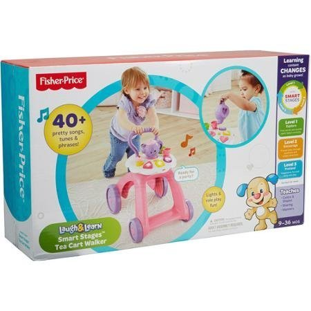 Fisher Price Laugh & Learn Smart Stages Tea Cart Walker - 1