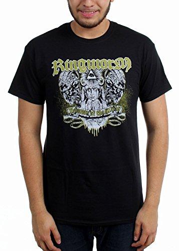 Ringworm -  T-shirt - Uomo nero X-Large