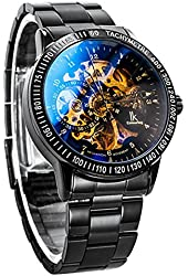 Multi Color Luxury Ik 98226 Stainless Steel Automatic Skeleton Mechanical Wristwatch Hollow Men's Watches Baby Carrier@ (style2)