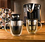 The Original 'Reusable Pod' -- 3 Piece Deluxe Pour-Over Coffee & Tea Set for Single Serve Coffee, Reusable Paperless Micro-Infusion Filter by Java Concepts