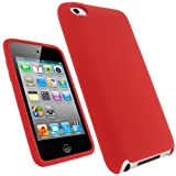 IGadgitz Red Silicone Skin Case Cover for Apple iPod Touch 4th Generation 8gb, 32gb, 64gb + Screen Protector