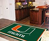 Miami Hurricanes Rug 4 ft. x 6 ft.