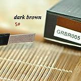 1 PC 5 Color Women Lady Waterproof Automatic Make Up Cosmetic Eye Liner Eyebrow Pencil Eye Brow Pen Eyeliner Makeup Beauty Tool Dark Brown (Color: Dark Brown)