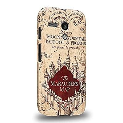Case88 Premium Designs Harry Potter & Hogwarts Collections Protective Snap-on Hard Back Case Cover for Motorola Moto G (1st Gen.) from Case88 Premium Designs