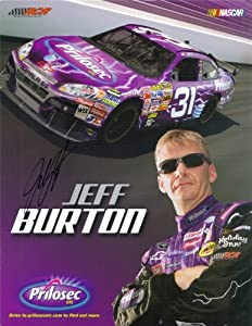 2009 Jeff Burton #31 Prilosec Driver Card SIGNED by Trackside Autographs