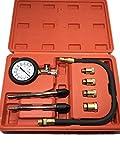 ガソリン エンジン 用 コンプレッション ゲージ 圧力計 300 PSI コンプレッション テスター セット バイク 用 工具 メンテナンス キット ツール