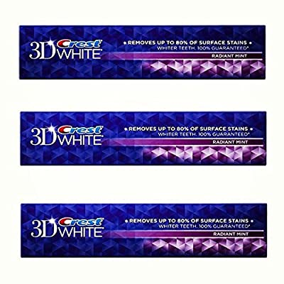 Crest 3D White Radiant Mint Flavor Whitening Toothpaste - 5.5 Oz