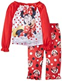Komar Kids Baby-Girls Infant Minnie Mouse Poly 2 Piece Pajama Set, Red, 18 Months