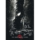 The Dark Knight Rises Poster Signed PP by 6 Batman Christian Bale, Morgan Freeman, Christopher Nolan, Gary Oldman, Tom Hardy, Anne Hathaway Catwoman A4 Size 21cm x 29.7cm