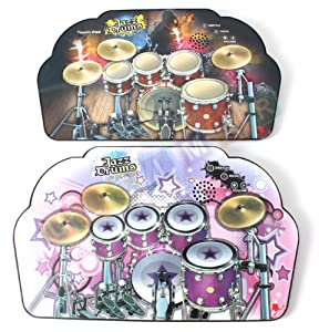 Drum Kit Playmat - Musical Toy - Electronic Drum Kit Playmat with MP3 input - Pink