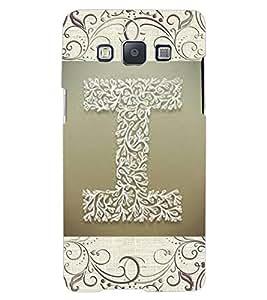 """ColourCraft Alphabet """"I"""" Design Back Case Cover for SAMSUNG GALAXY A7"""