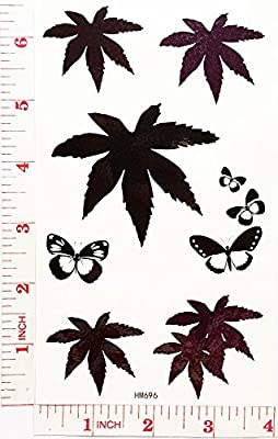 marijuana Temporary Waterproof Tattoo Art Body Stickers Removable Fashion Henna Tattoo Inspired Sticker Gifts by Magic movement