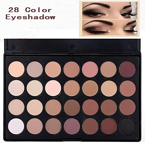 LinlyQueen High quality Pro Makeup 28 Color Nude Eye Shadow Palette in box HOT