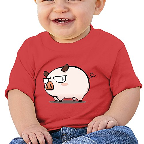 NUBIA Newborn Baby Cute Cartoon Pig Short-Sleeve Tee Red 18 Months (Pic Of Ps3 compare prices)