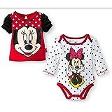 Disney Newborn Girls' Minnie Mouse Bodysuit and Top Set