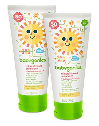 销量冠军,Babyganics 天然婴儿防晒霜 SPF50 177ml*2瓶图片