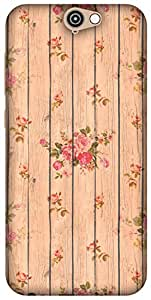 The Racoon Lean Beige Flower Wood hard plastic printed back case / cover for HTC One A9