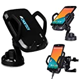 CHOE UPGRADED Qi Wireless Car Charger Dock with Universal Orienting Windshield / Dashboard and Air Vent Mount for Nexus 5, Lumia 920, Nexus 4, Droid Maxx, Droid Mini, LG G2 and Other Qi Wireless Charger Phones