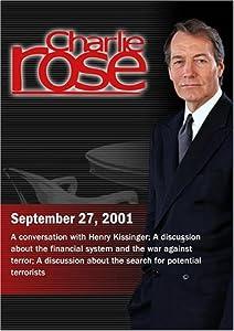 Charlie Rose with Henry Kissinger; Jon Corzine; Evan Thomas (September 27, 2001)