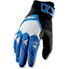 Thor Mens Deflector Motocross Gloves Blue Large L