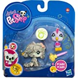 Littlest Pet Shop 2010 Assortment 'A' Series 3 Collectible Figure Mopdog & Bird