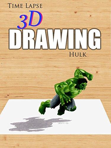 Clip: Time Lapse 3D Drawing: Hulk