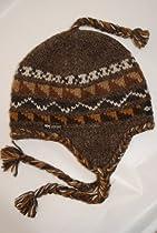 Everest Sherpa Earflap Peruvian Hat (Ale Brown)