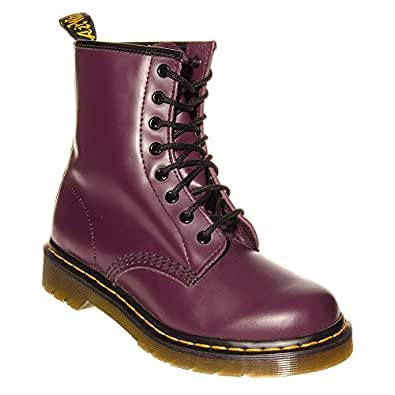 Dr martens 8 hole smooth boots purple 4 uk for Amazon dr martens