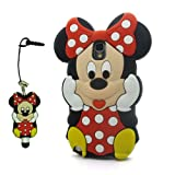 DD(TM) Red 3D Cartoon Cute Minnie Mouse Soft Silicone Case Skin Protective Cover for Samsung Galaxy Note 3 III N9006 with 3D Silicone Minnie Mouse Stylus Touch Pen