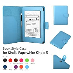 Elsse Premium Case For Amazon Kindle Paperwhite and All-New Kindle Paperwhite (Styli NOT included) (Support Smart Cover Function) (Paperwhite, Light Blue)