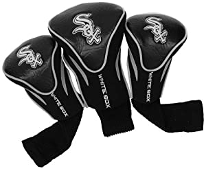 MLB Chicago White Sox Contour Head Cover (Pack of 3), Black by Team Golf
