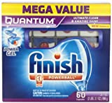 Finish Quantum Dishwasher Detergent Mega Pack, 60-Count