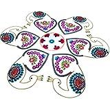 Ira Creations Acrylic Kundan Rangoli Set Of 7 (45.75cm X 45.75cm)