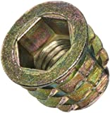 E-Z Lok Threaded Insert, Zinc, Hex-Flanged, UNC Threads, Inch, Made in US