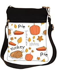 Snoogg Thanks Giving Cross Body Tote Bag / Shoulder Sling Carry Bag