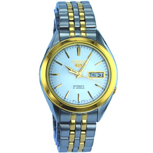 Seiko snkl 24-5 Gent's Automatic Watch Analogue Watch-White Face - 2 Tone steel Bracelet