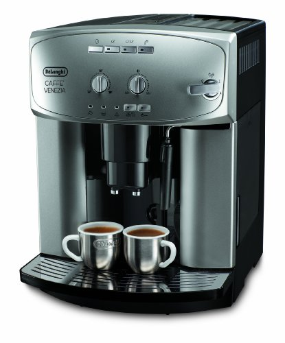 DeLonghi ESAM 2200 Kaffeevollautomat (1450 Watt, Dampfdüse) silber thumbnail