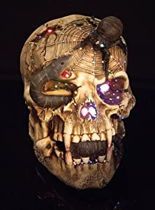 Snake Eyed Skull Fiber Optic by Rubies