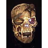 Snake-Eyed Skull Fiber Optic Halloween Mask