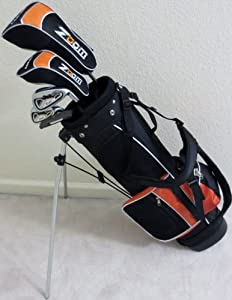 Boys Right Handed Junior Golf Club Set with Stand Bag for Kids Ages 5-8 Orange Color... by PG Golf Equipment