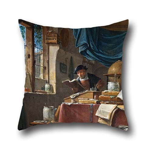Oil Painting Thomas Wyck - A Scholar In His Study Pillowcover 20 X 20 Inches / 50 By 50 Cm Best Choice For Indoor,monther,wife,lover,festival,dining Room With Twice Sides Spades Tie Dye T-Shirt