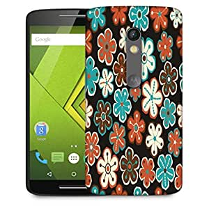 Snoogg Seamless Floral Pattern Flowers Texture Daisy Designer Protective Phone Back Case Cover For Motorola Moto X Play