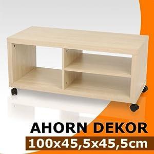fernsehschrank tv hifi rack ahorn k che. Black Bedroom Furniture Sets. Home Design Ideas
