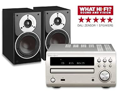 Review and Buying Guide of Cheap Denon DM39DAB Silver + Dali Zensor 1 Light Walnut (R)