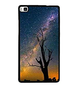 Starry Night 2D Hard Polycarbonate Designer Back Case Cover for Huawei P8