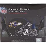 NFL Baltimore Ravens iHip Extra Point Over The Ear DJ Style Headphones Earphones for iPhone
