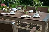 Gartenmbel-Miami-Tisch-200x100-6-Stapelsthle-und-2-Hochlehner-8-Personen-Holzdekor-dunkel-Polywood-und-Aluminium-Edelstahl-beschichtet